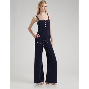 NWT Juicy Couter Navy Blue Terry Cloth Jumpsuit S